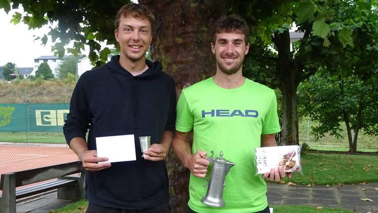 Der zweitplatzierte Andrin Saner (links) und der Gewinner Dario Huber (rechts).