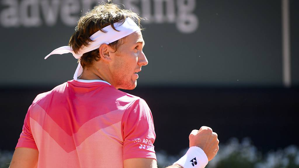 Casper Ruud feiert seinen zweiten ATP-Titel.