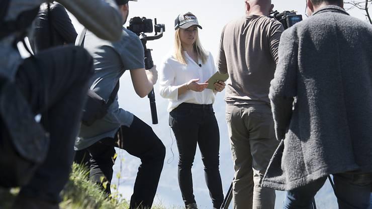 Lara Gut-Behrami hat am Mittwoch oberhalb von Lugano zu einem Medientreffen eingeladen
