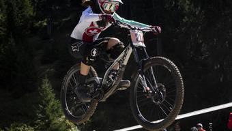 An der WM zu Gold im Downhill gerast: Camille Balanche. (Archivbild)