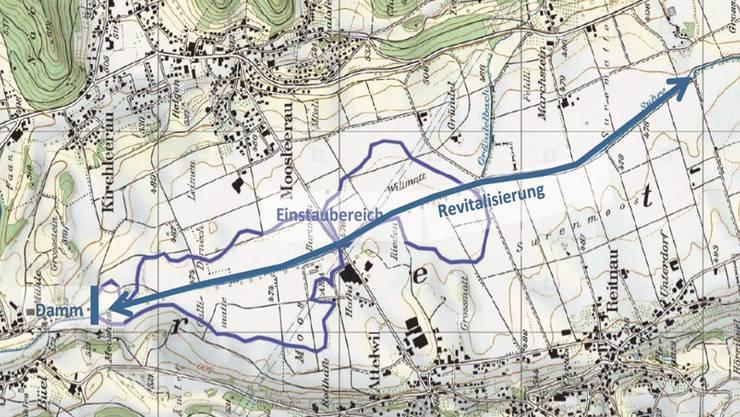 Die Suhre soll neu bis zur Luzerner Kantonsgrenze revitalisiert werden.