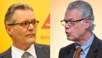 Verwaltungsrats-Präsident Paul Hälg (r.) und Sika-Erbe Urs Burkard (l.)