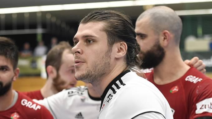 Der Goalie des HSC Suhr Aarau wird dem Verein mehrere Wochen fehlen (Bild: Alexander Wagner)