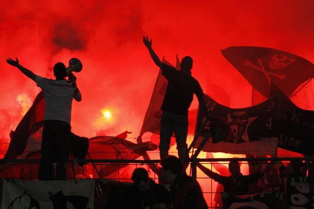 Fans des FC Sion im Cupspiel gegen den FC Luzern am Ostermontag letzten Jahres.