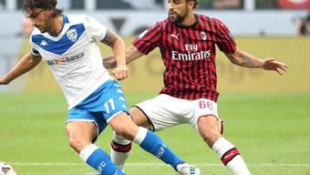 Der Schweizer Internationale Ricardo Rodriguez (rechts) war auf der linken Abwehrseite bei der AC Milan zuletzt nicht mehr erste Wahl