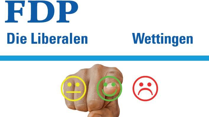 lokale Meinungsumfrage der FDP-Wettingen