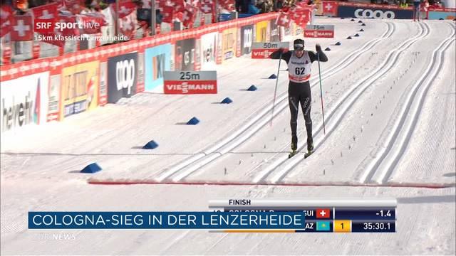 Dario Cologna gewinnt zweite Etappe