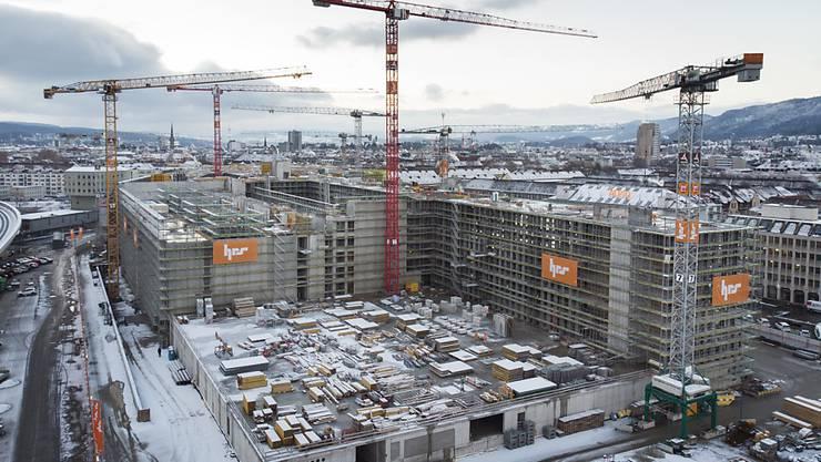 Qualität wird auf dem Wohnungsmarkt wichtiger: Baustelle in Zürich (Archivbild).