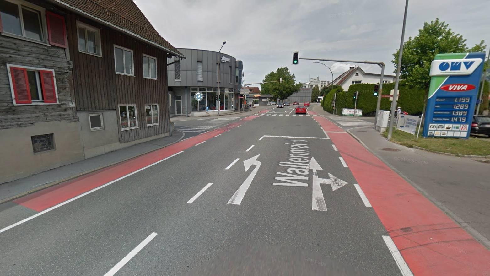 Kreuzung Wallenmahd/Schweizerstrasse in Dornbirn