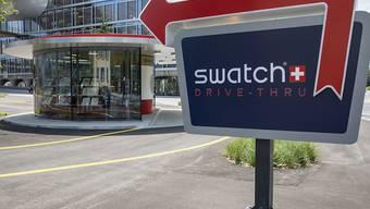 Der Hauptsitz von Swatch in Biel BE. (Archivbild)