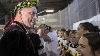 Schwingerkönig Matthias Sempach kann sich über die Einteilung zum ersten Gang beim Kilchberger Schwinget freuen.