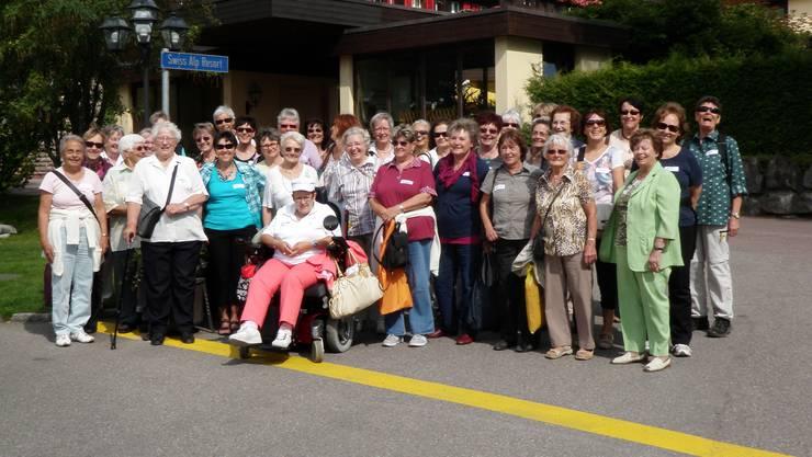 Teilnehmerinnen der gemeinsamen Chorreise nach Grindelwald