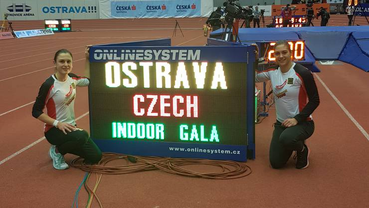 Czech indoor Gala: Pascale Stöcklin und Lea Bachmann.