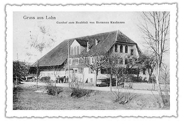 Gastwirt Hermann Kaufmann verewigte das alte «Neuhüsli» auf einer Postkarte.