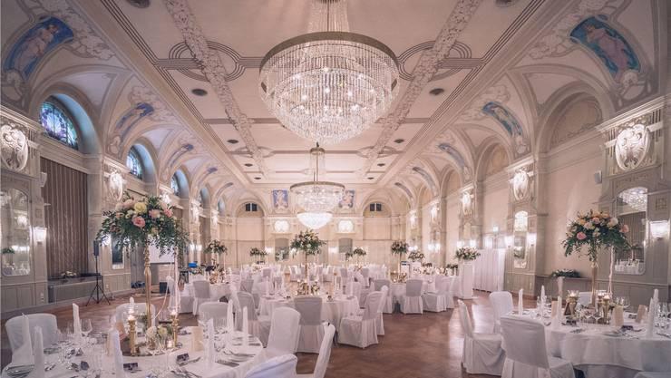 Der Jugendstilsaal im Hotel Waldhaus in Flims.