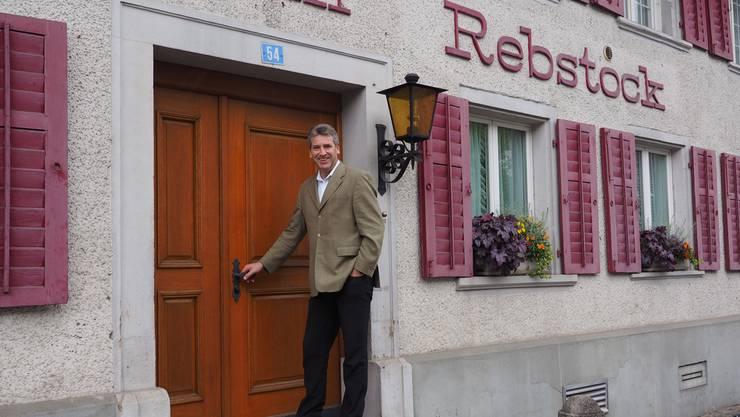 Noch sind die «Rebstock»-Türen geschlossen. Geht es nach den Plänen des Gemeinderates, geht das Restaurant im nächsten Jahr wieder auf. Archiv/twe