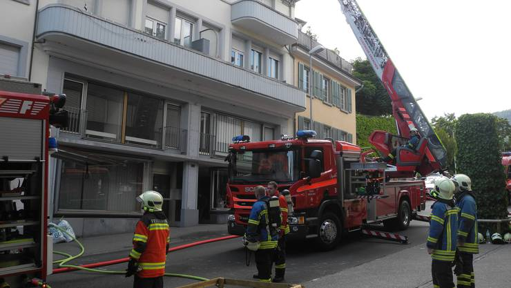 An Auffahrt hat es an der Kirchstrasse gebrannt