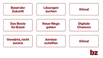 Das bz Wahlkampf-Bingo (Zum Vergörssern anklicken)