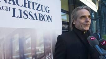 Auf ihn haben am Donnerstag in Bern alle gewartet: Jeremy Irons