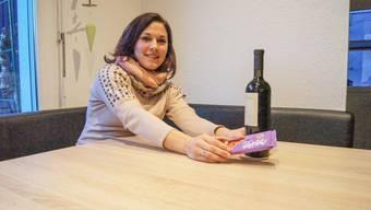 Tina Wiederkehr aus Waltenschwil schiebt Schoggi und Wein für 40 Tage weit von sich.
