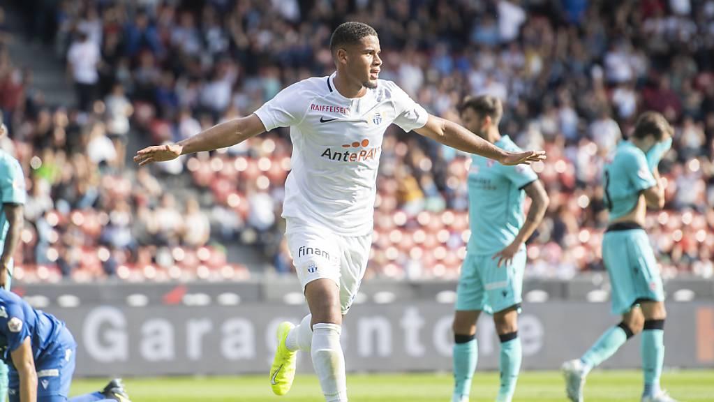 Simon Sohm freut sich über seinen ersten Treffer in der Super League