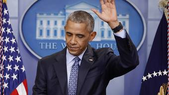 Barack Obama wählt bei seiner letzten Pressekonferenz im Weissen Haus nochmals deutliche Worte.