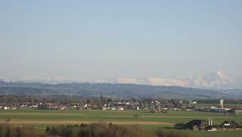 Blick vom Berg ins Tal.
