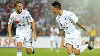 Für Joël Geissmann (links) bleibt die Super League das Ziel.