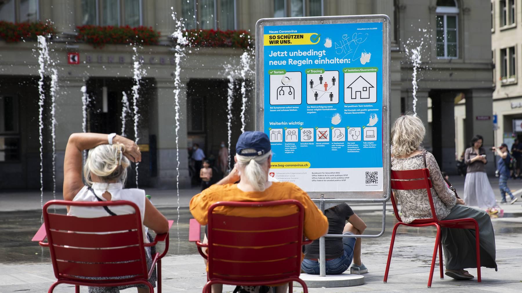 Die aktuelle Kampagne des Bundesamts für Gesundheit zur Eindämmung des Coronavirus in der Schweiz.