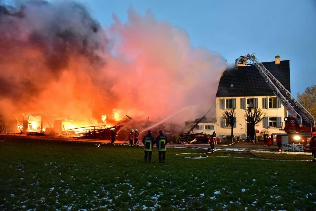 Brand in Boltshausen (© Thurgauer Zeitung/Mario Testa)