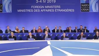 Die Nato feiert ihr 70-jähriges Bestehen. (AP Photo/Pablo Martinez Monsivais)