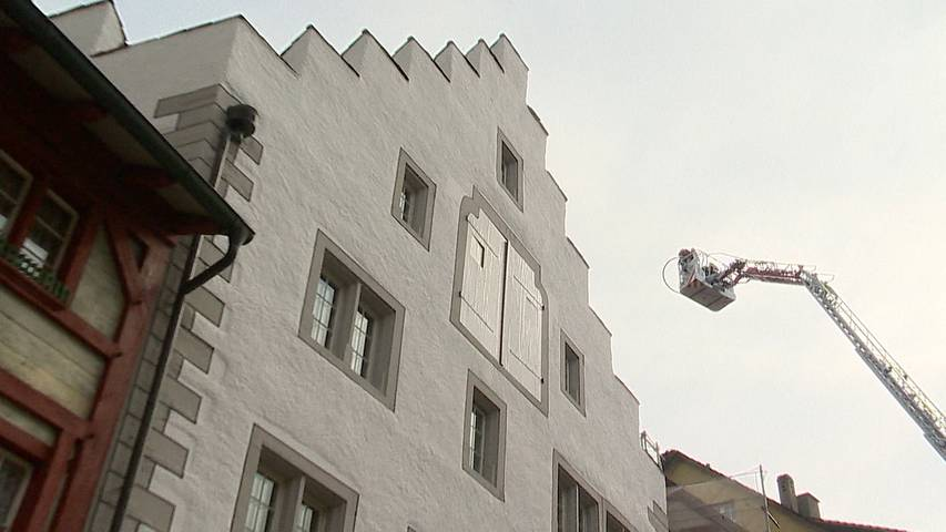 Stein am Rhein: Rauchentwicklung in Dachwohnung