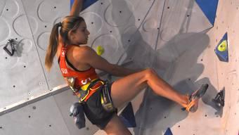 Petra Klingler (Bonstetten) holte sich in Niederwangen nach dem Boulder-Meistertitel nun auch den Schweizer-Lead-Meistertitel.