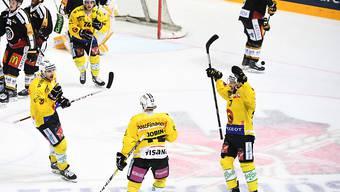 Die Berner jubeln - ihnen fehlt gegen Lugano nur noch ein Sieg zum Finaleinzug