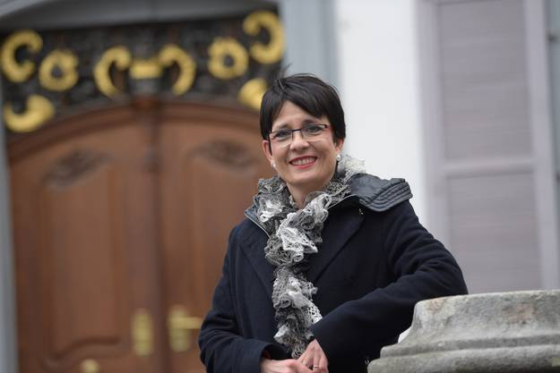 Interviewtermin mit Landratspräsidentin Elisabeth Augstburger.