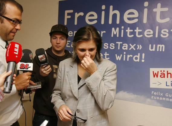 Misserfolg für die FDP im Wahljahr 2007. Doris Fiala übernimmt die Verantwortung und erklärt im November ihren Rücktritt