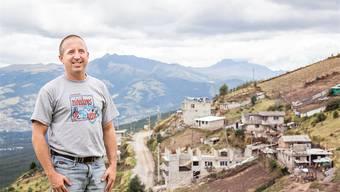 Marco Nyffeler in Ecuador: «Glücklich, dass sich das Kinderprojekt so entwickelt hat.»ZVG