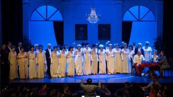 Die Operettenbühne Bremgarten feiert mit «Das Land des Lächelns» grosse Erfolge: Für die verbleibenden neun Vorstellungen werden noch aufgeführt. (Archiv)