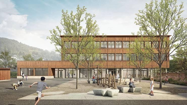 So soll das neue Schulhaus Goldiland aussehen. Kosten: 10,4 Millionen Franken.
