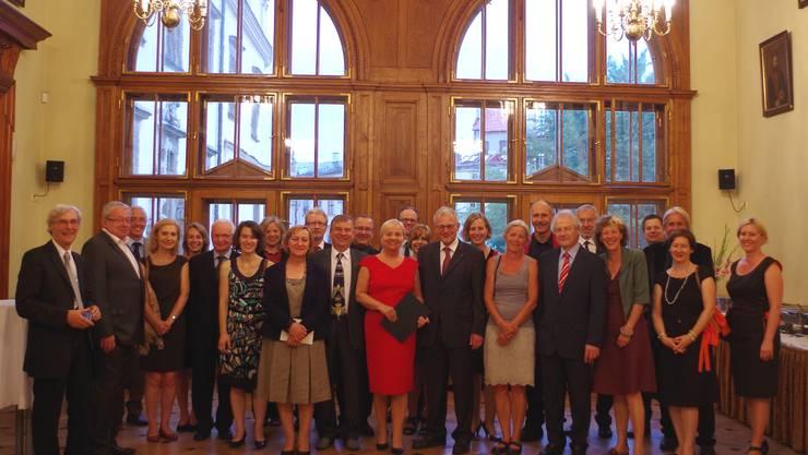 Die Solothurner Delegation im Krakauer Stadthaus mit den Gastgebern unter der Leitung von Frau Elżbieta Koterba, stellvertretende Präsidentin der Stadt Krakau
