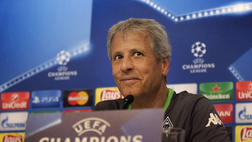 Mönchengladbachs Trainer Lucien Favre hofft nach dem verkorksten Meisterschaftsstart mit vier Niederlagen aus vier Spielen in der Champions League mehr Stabilität zu finden