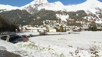 Winter-Stimmung in Davos.