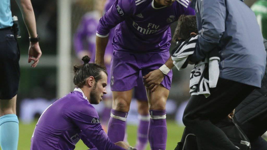 Reals Gareth Bale verletzte sich am letzten Dienstag im Champions-League-Spiel bei Sporting Lissabon (2:1) am Knöchel