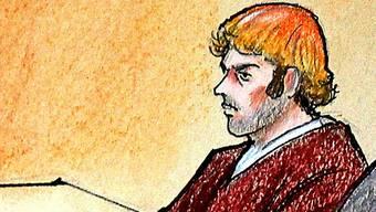 Zeichnung des Angeklagten James Holmes (Archiv)