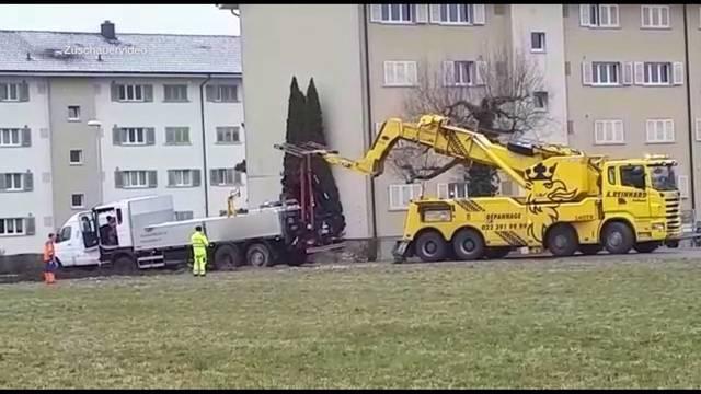 LKWs verirren sich ins Gerlafinger Wohnquartier