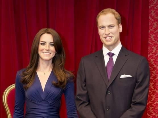 Täuschend echt: Kate und William in Wachs