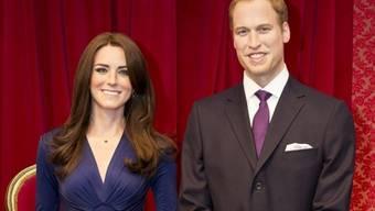 Kate und William in Wachs