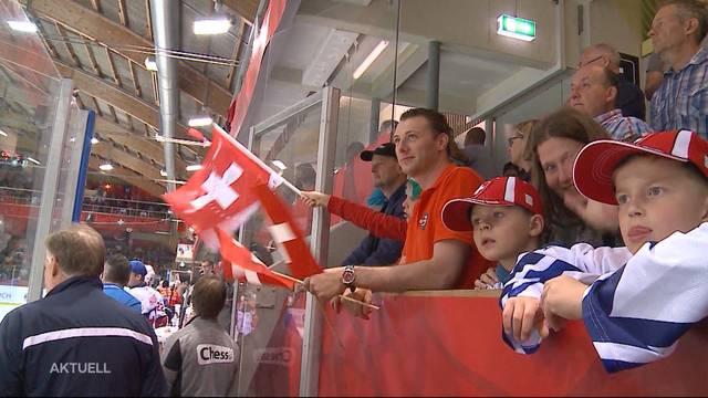 Schwitzen am Hockey-Test-Länderspiel gegen Norwegen in Lagenthal