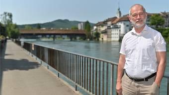 Reno Sami, Co-Geschäftsführer der Suchthilfe Olten Ost, auf dem Festplatz, dem Ländiweg. Bruno Kissling