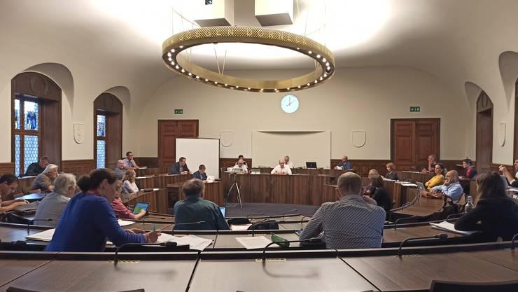 Die Gemeinderatssitzungen finden aufgrund der Schutzmassnahmen bezüglich Corona vorübergehend im Kantonsratssaal statt.